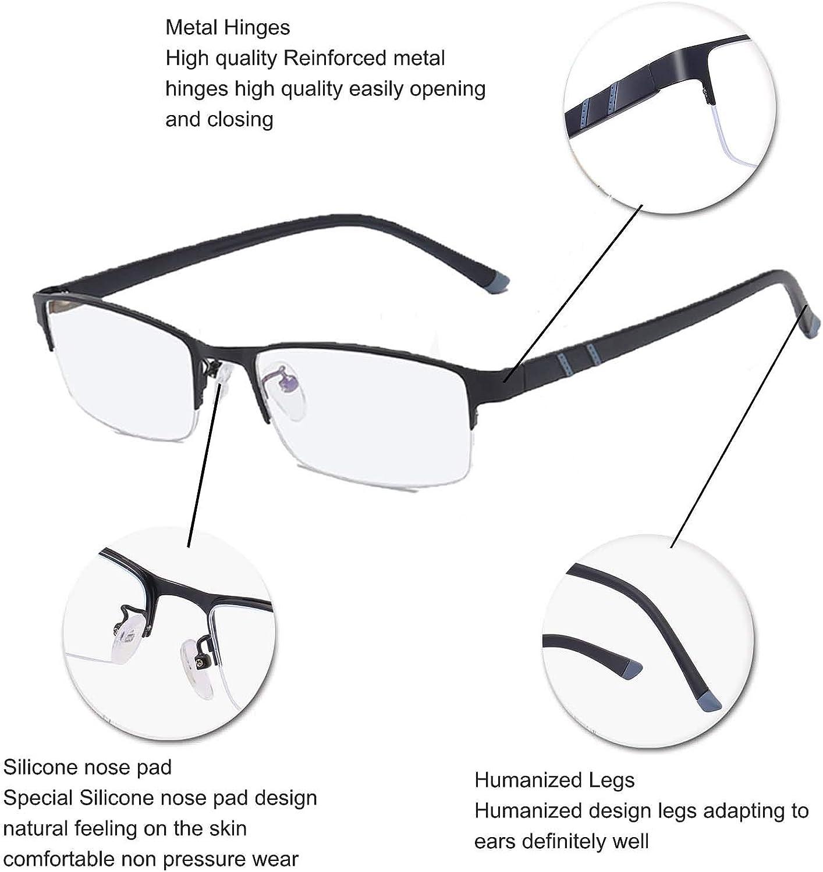 D.King Metal Wire Glasses Frame Business Unisex Anti-Blue Light Glasses