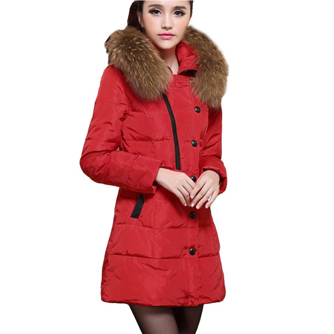 Cozy Age Womens Faux Fur Down Coat Amazon.com