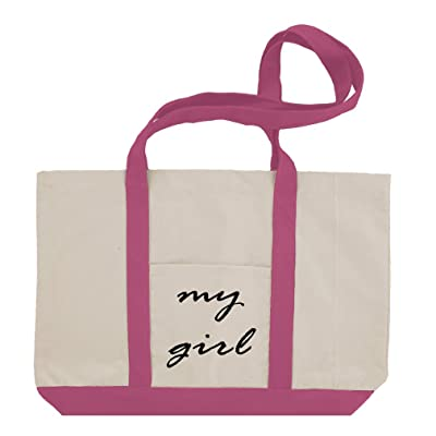hot sale My Girl Cotton Canvas Boat Tote Bag Tote