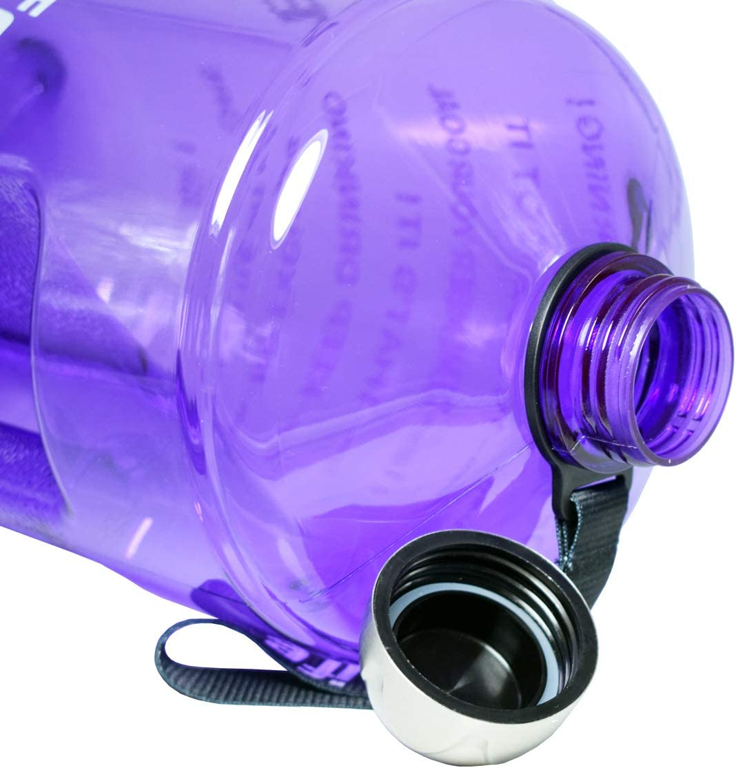 Drink More Water Daily Large Water Jug Throughout The Day Clear BPA-Free BuildLife 3.78L//2.2L//1.3L Water Bottle Motivational Fitness Workout with Time Marker