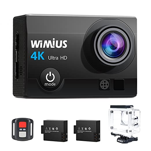 237 opinioni per Action Cam, WiMiUS Fotocamera Subacquea 4k HD 16MP Action Camera WIFI,