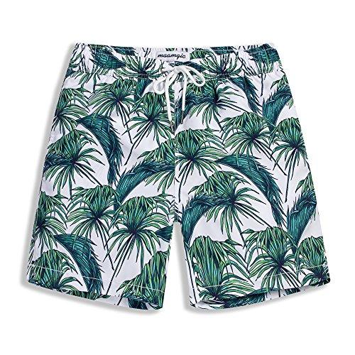 MaaMgic Mens Quick Dry Tropical Swim Trunks With Mesh Lining Swimwear Bathing - Cheap Swimsuits Mens