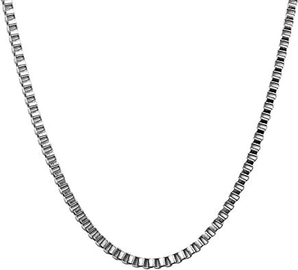 """Stainless Steel Silver 22/"""" Stainless Steel 2mm Necklace Chain"""