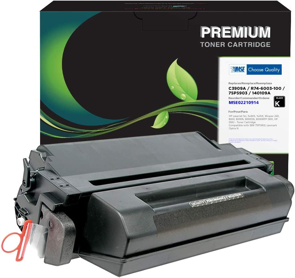 MSE Brand Remanufactured Toner Cartridge for HP 09A C3909A | Black