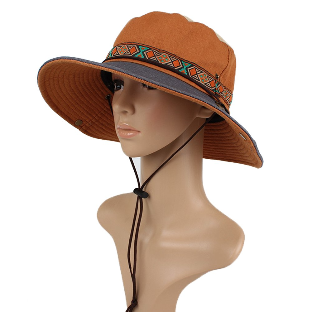 Womens Summer UPF 50 Sun Protection Beach Hat, Bohemia Visor Hat Sun Bucket Hat JURUAACLOTHING 2017JURUAA4251848