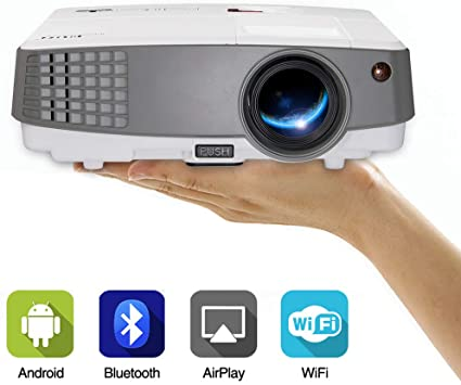 Mini Proyector Portátil, Proyector WiFi con 3300 Lúmenes HD 1080P ...