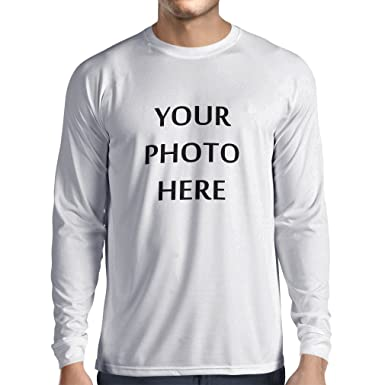 4ebeff59 Long Sleeve t Shirt Men,Custom t Shirts,Personalized Gifts (XS White Multi