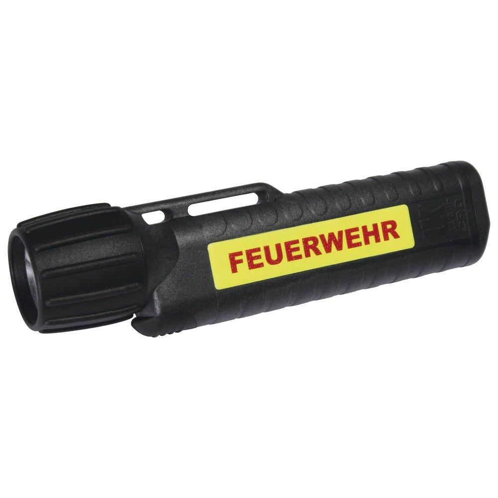UK Lights Helmlampe 4AA eLED Cpo, nachleuchtendem Streifen, Feuerwehr, ES/Frontschalter, schwarz 14444NF
