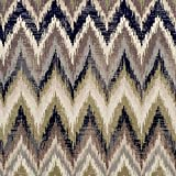 Superior Zigzag Collection Area Rug, 8mm Pile Height with Jute Backing,  Designer Inspired Ikat Chevron Pattern, Fashionable and Affordable Woven Rugs, 5' x 8' Rug, Brown