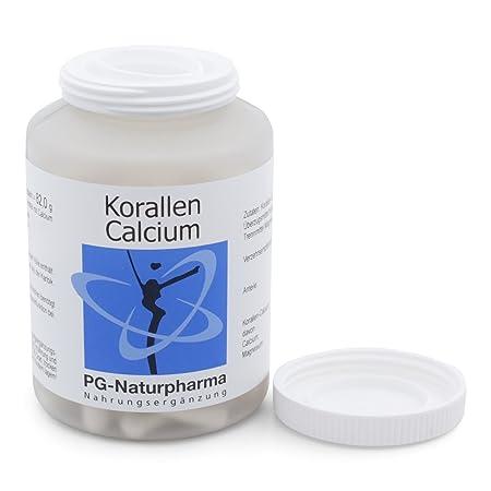 Calcio con magnesio, 120 cápsulas calcio de coral, 1 cápsula con 500mg de calcio en polvo, preservación de la función ósea y función muscular, altas dosis, ...