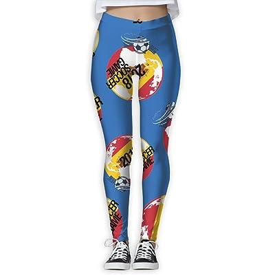 2018-soccer-game-Spain Women Printed Design Leggings Workout Lightweight Legging Yoga Pants