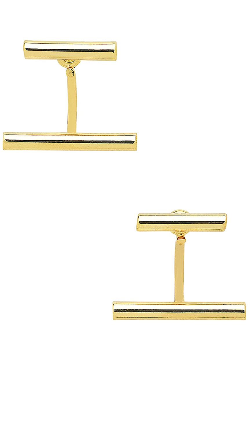 Gold Plated Parallel Bar Ear Jackets Sterling Forever