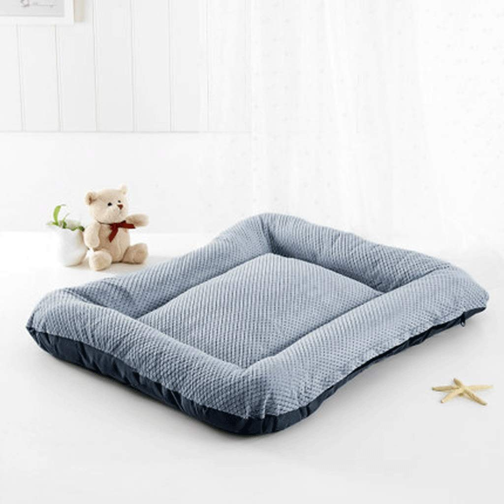A XXLargeDog mat cat kennel mat pet cotton pad blanket blanket quilt bite resistant winter four seasons supplies (color   A, Size   XXL)