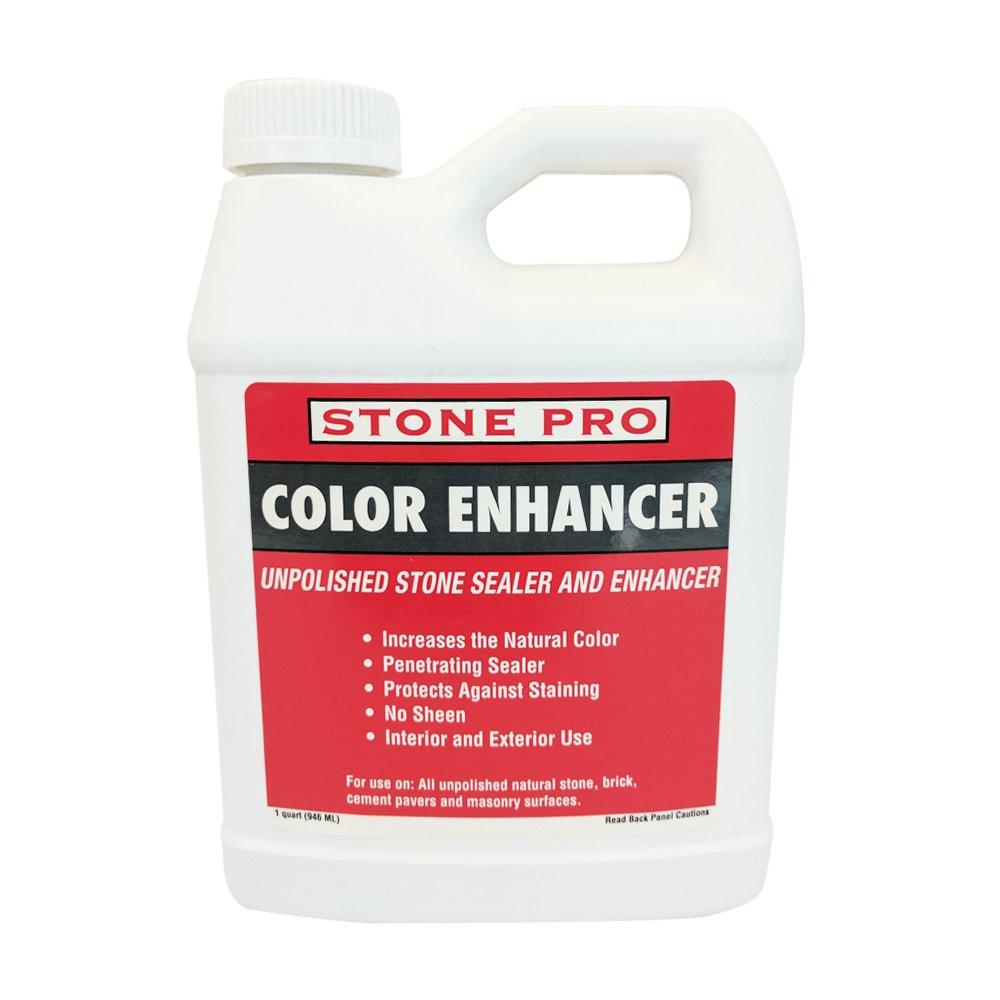 Stone Pro Color Enhancer - Unpolished Stone Sealer and Enhancer - 1 Quart by Stone Pro