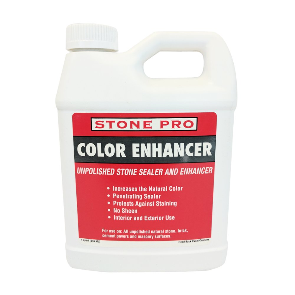 Stone Pro Color Enhancer - Unpolished Stone Sealer and Enhancer - 1 Quart by Stone Pro (Image #1)