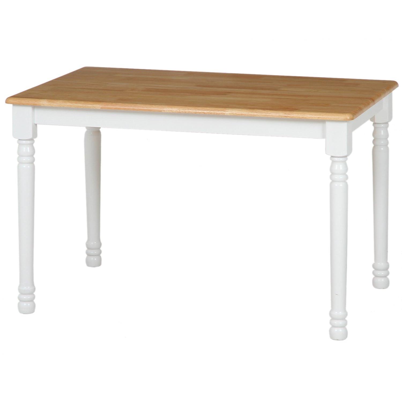 不二貿易 ダイニングテーブル マキアート 2人掛け用 ホワイト ナチュラル 96667 B00TEP09MQ テーブル/2人掛け用