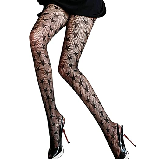 b4a176407 Image Unavailable. Image not available for. Color  SUPPION Women Sexy Hosiery  Black Fishnet Elastic Thigh High Stockings Pantyhose Tights