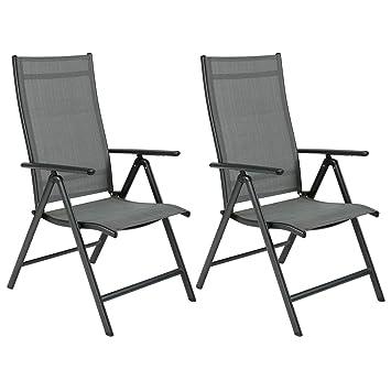 OUMAN sillón Silla de jardín plegable silla de jardín silla plegable con balcón silla de terraza de aluminio para terraza balcón Camping Festival ...