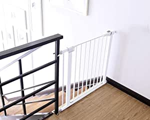 L.TSA Barreras de Seguridad Niño para escaleras Bar de Puerta para Mascotas Valla para Perros Parque para Cachorros Adecuado para 63cm-70cm / 75-82cm Ancho Barrera para bebés: Amazon.es: Deportes y aire libre