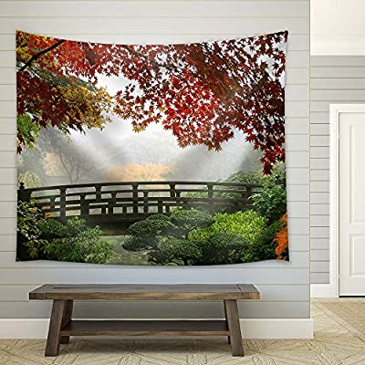Autumn Morning in a Garden with Maple Trees, Classic Artwork, Dazzling Piece of Art