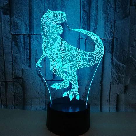 Luz Nocturna 3D Dinosaurio Toque Colorido Regalos ...