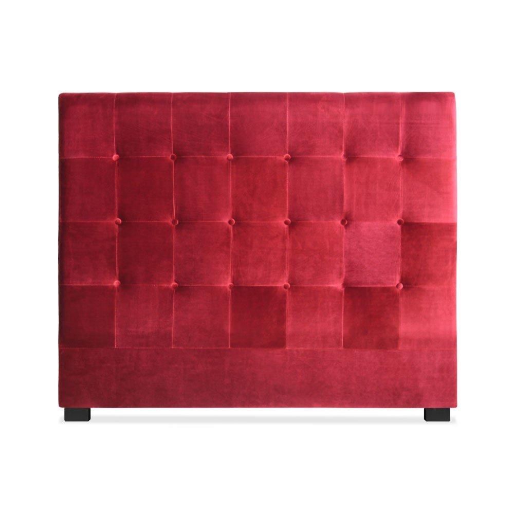 Tête de lit Luxor 140cm Velours Rouge