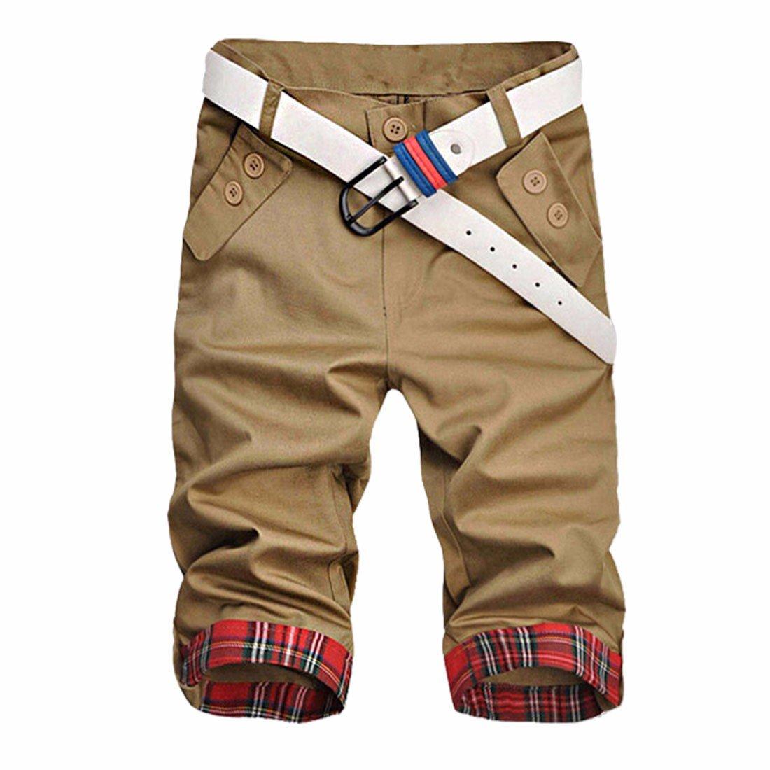 Z Delgado De La Manera del Verano Deportes Ocasionales Hombres Recortadas Pantalones Cortos Cortocircuitos Coreanos: Amazon.es: Ropa y accesorios