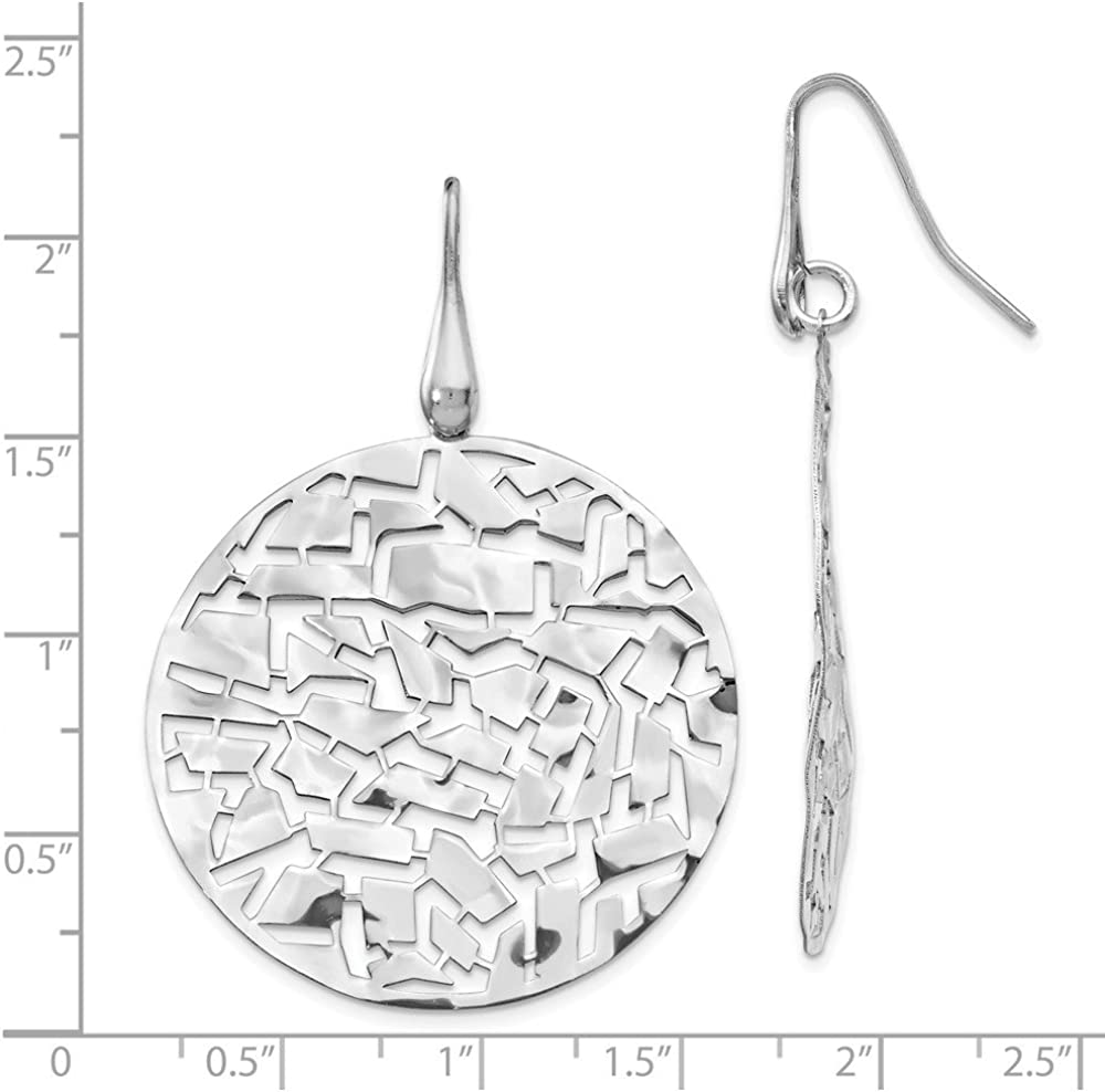 Leslies Silver Rhodium Plated Circle Earrings