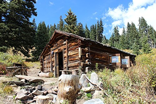 Home Comforts LAMINATED POSTER Cabin Colorado Rocky Log Mountains Landscape - Furniture Rocky Mountain Log