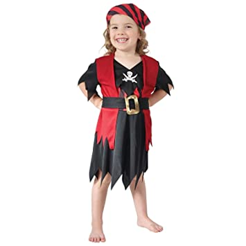 Girls Age 2-3 Years Pirate Costume Toddler Red Childrens Kids Book Week Fancy Dress  sc 1 st  Amazon UK & Girls Age 2-3 Years Pirate Costume Toddler Red Childrens Kids Book ...