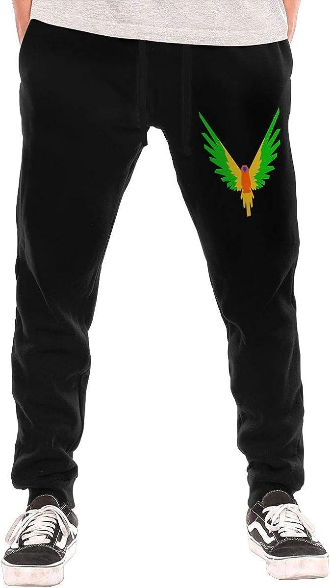 Parrot-Logo Logan Paul Logang Printed Men's Classic-Fit 3-Pocket Fleece Long Pant Underwear Bottoms