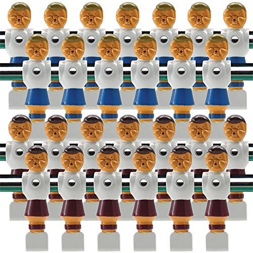 """13 Red//13 Blue Old Style Tournament Soccer Foosball Men-5//8/"""" Rod+26 Screws//Nuts"""