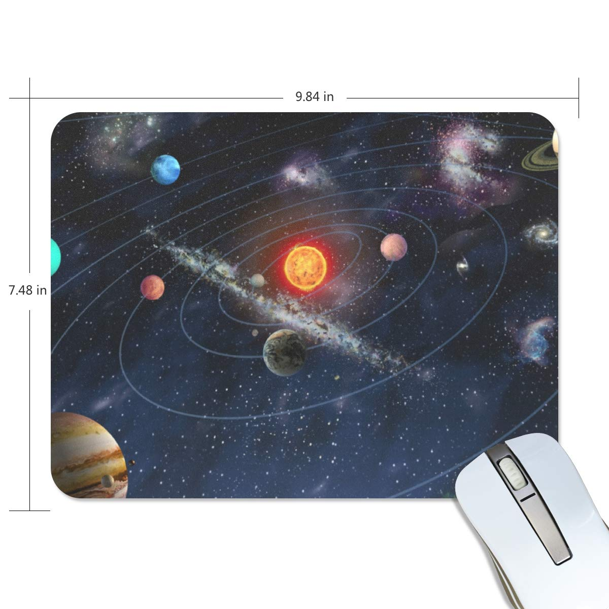 Our Solar System of Space Mouse pad Mouse pad Mouse pad mice pad Mouse pad The Office mat Mouse pad Mousepad Nonslip Rubber Backing