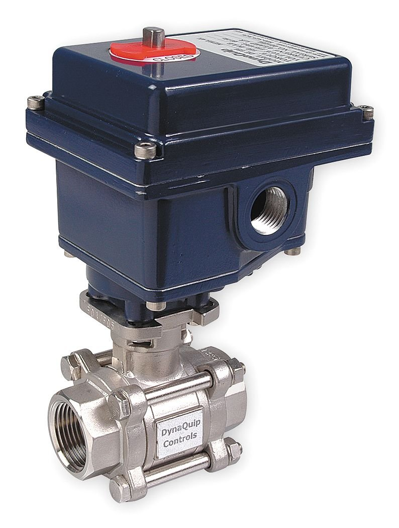 Image of Dynaquip Controls, E3S25AJE21, Stainless Steel Electronic Actuated Ball Valve 1' Ball Valves