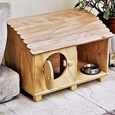 Blitzen novedades, caseta para perro para gatos Bungalow Outdoor Wp para exteriores: Amazon.es: Jardín