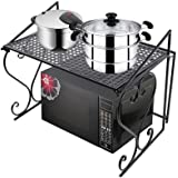 AISHN Metal Microwave oven Rack /shelf Kitchen Shelves Counter and Cabinet Shelf (Black)