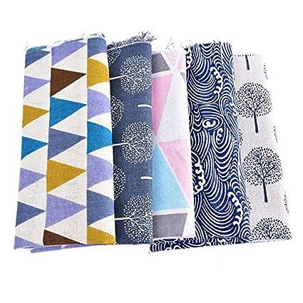 5 Uds Telas de algodon diseños mix para cojines, tapizar sillas ...