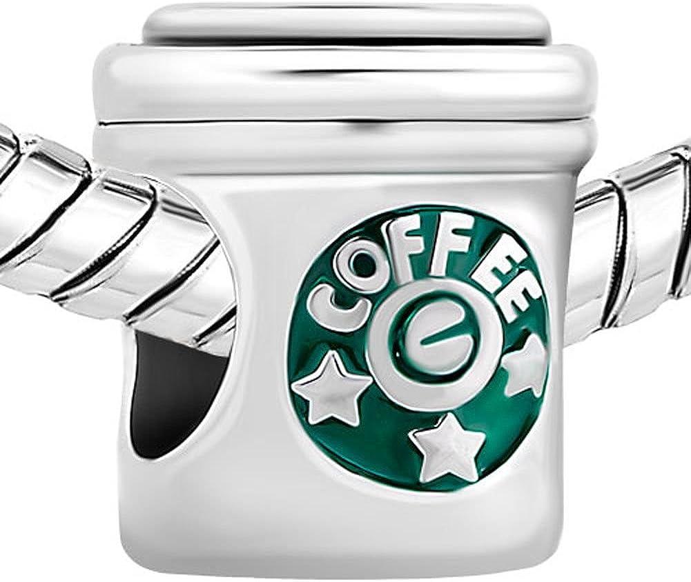 Uniqueen Charm Tasse /à caf/é pour bracelet
