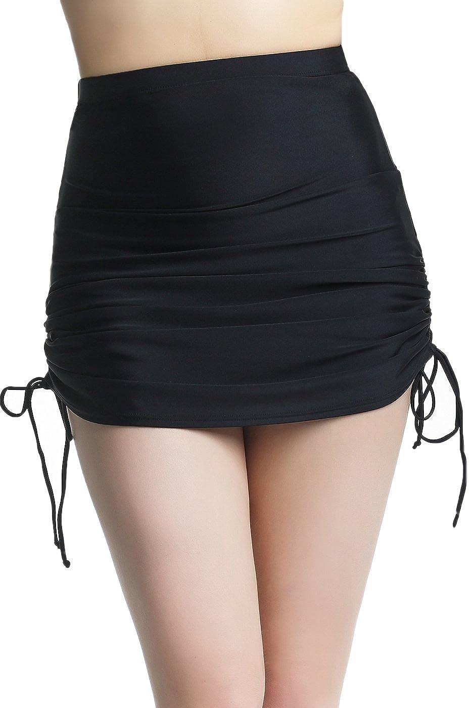 216fe968026d5 High Waisted Swim Skirt Bottoms Plus Size