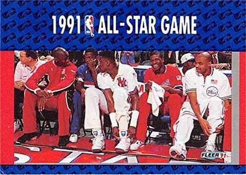 ck Ewing Charles Barkley Bernard King basketball card 1991 Fleer #233 All Star Game (Bernard King Autographed Basketball)
