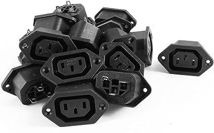 1 Pcs IEC-320 C13 Female PCB Mount Panel Power Socket
