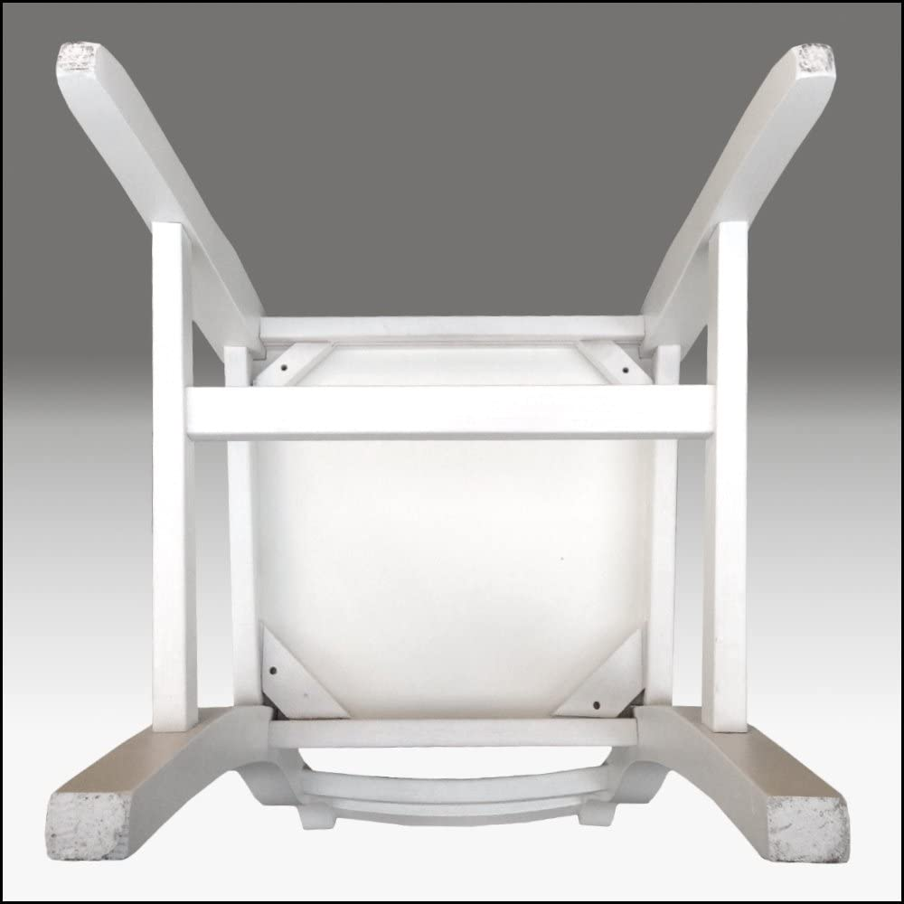 Silla modelo Tiffany, Blanca, de madera, estilo rústico, envejecida (2 sillas): Amazon.es: Hogar