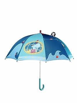 Lilliputiens 86335 - Arnold paraguas con ventana, hipopótamos, azul [Importado de Alemania]: Nilpferd, blau Lilliputiens 86335 - Regenschirm Arnold mit ...