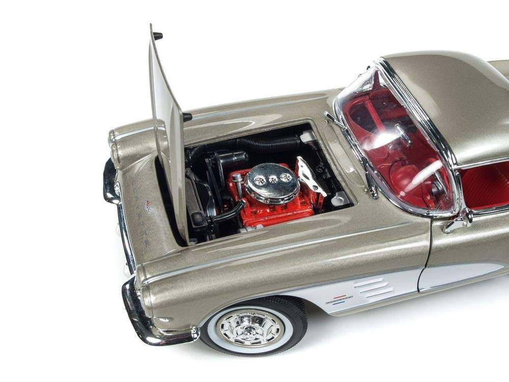 1961 Chevrolet Corvette Hard Top Fawn Beige Muscle Car & Corvette Nationals (MCACN) Limited Edition to 1002 Pieces Worldwide 1/18 Diecast Model Car by Autoworld AMM1151 by Auto World (Image #4)