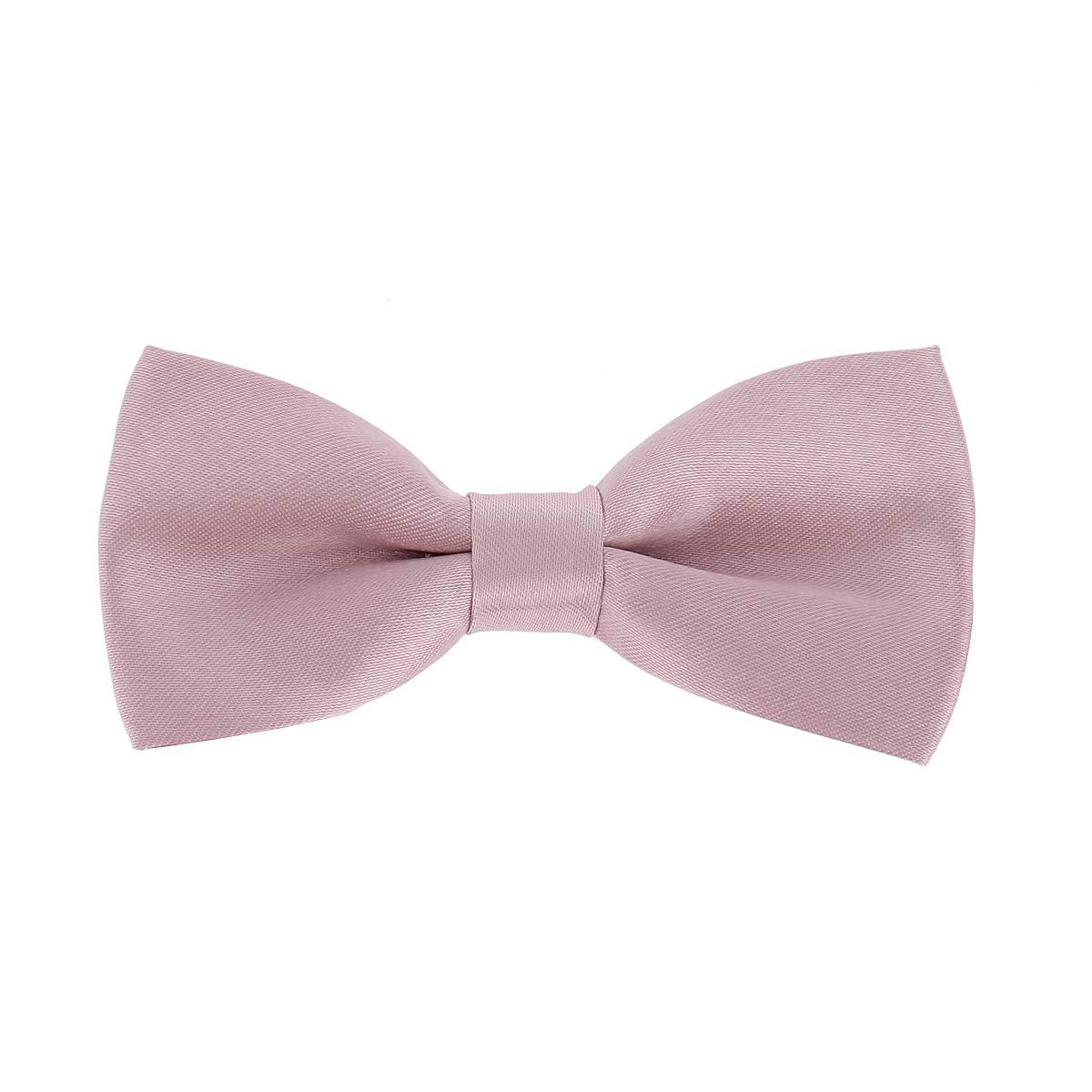 Corbata Slim con lazo de mariposa para niño de color rosa ...
