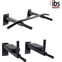 IBS Wall Mounting Multi Solid Bar for Dips, Leg Raise and Multiple Adjustable Exercises for Home and Gym