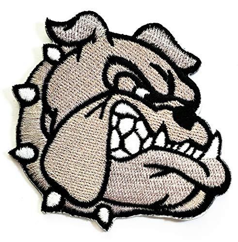 Nipitshop Patches Gray Bulldog Pitbull Dog Pet Animal