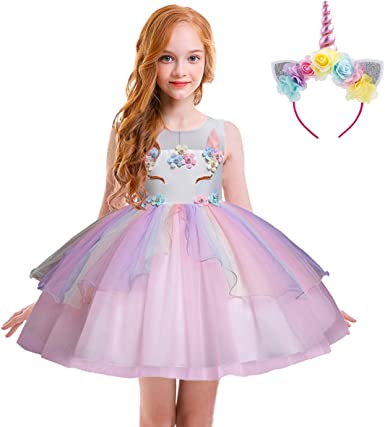 Baby Girl Princess Dress Girl Tutu Fancy Party Halloween Outfit Dress Costume