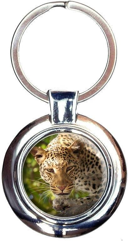 Amazon.com: Estampado de leopardo Safari africano Llavero ...