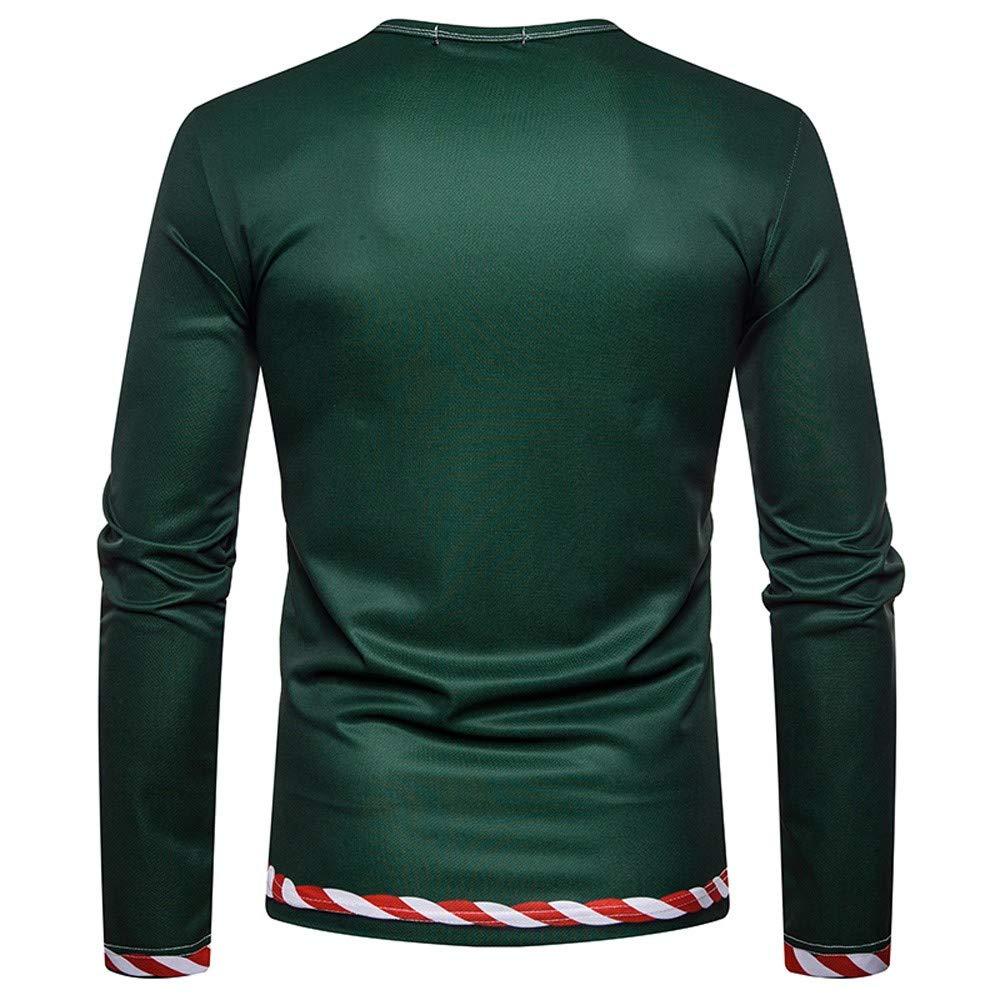 T Shirt Weihnachten.Batnott Weihnachtskostüm Santa Print Holiday Humor Herren Langarm T